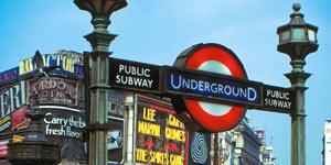 Hopp på t-banen i London