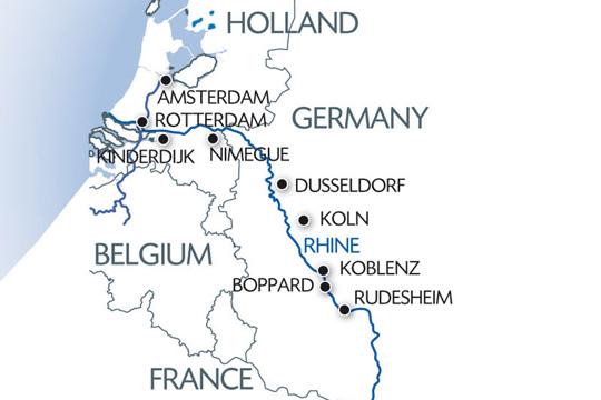 kart over rhinen Reiserute Nederland og romantiske Rhinen | Apollo Reiser kart over rhinen